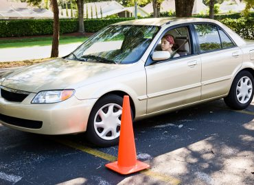 Parallel Parking Tips from DriveWise. Teen girl learning to parallel park a car.